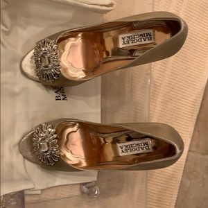Badgley Mischka gold heels used gently one time!